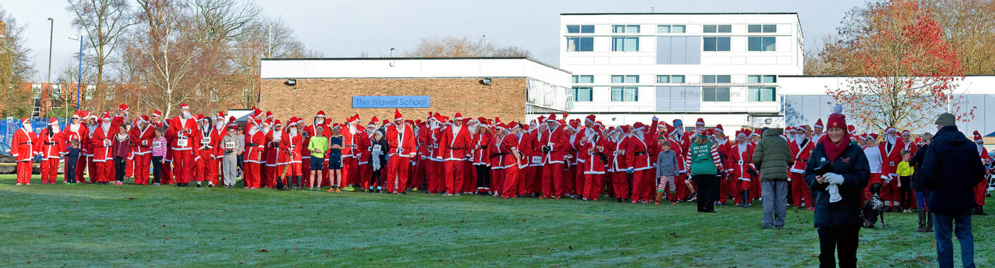 Blackwater Valley Runners are Helping organise the Phyllis Tuckwell Santa Runs in Aldershot on 10th December 2017 - Click image
